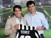 Carlos Tevez with Andrea Agnelli